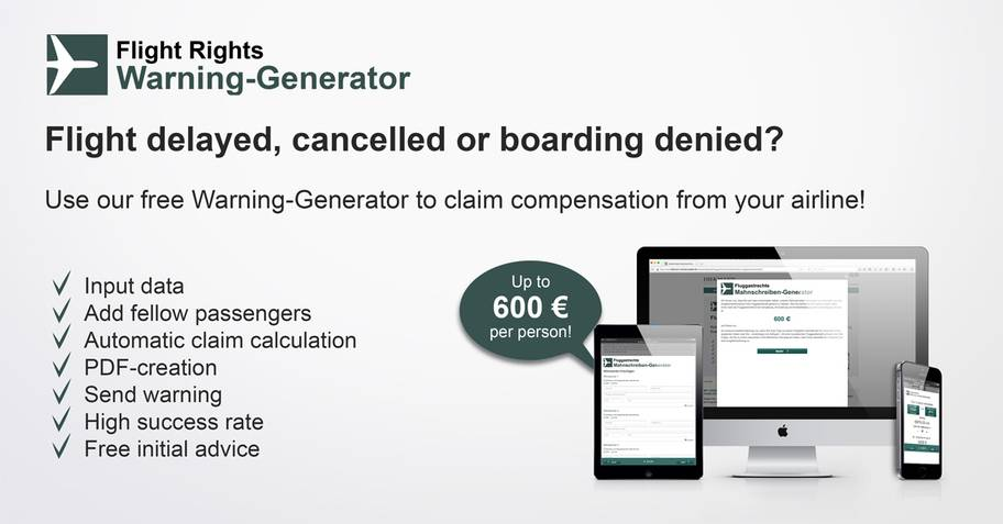 Sample letter flight delay compensation - DIEKMANN Rechtsanwälte